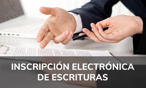 Inscripción electrónica de escrituras en CBR