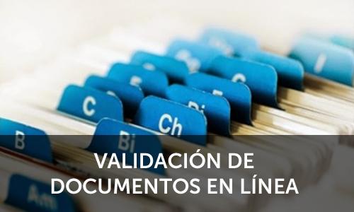 Validación de Documentos en línea